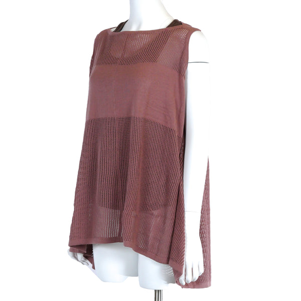 Sleeveless poncho in Dusty Rose
