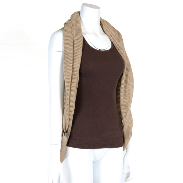 Vest or cardigan mode Taupe