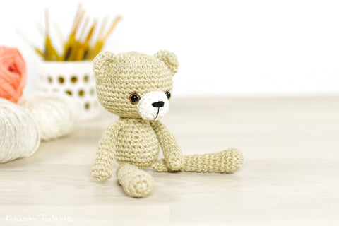 FREE PATTERN: Small Long-Legged Teddy Bear – Kristi Tullus