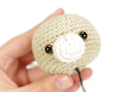 embroider teddy nose