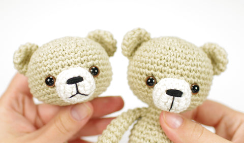 Tutorial - Needle Sculpting an Amigurumi Doll Face | Stitches n Scraps | 282x480