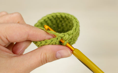 crocheting in both loops