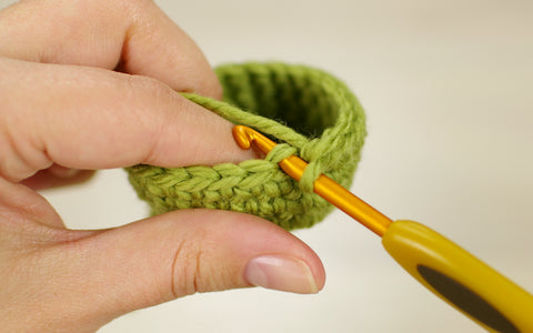 crocheting in back loops only