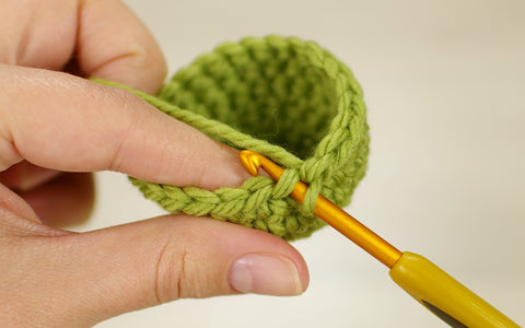 crocheting in front loops only