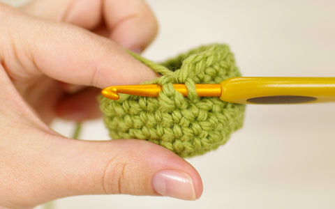 front post single crochet
