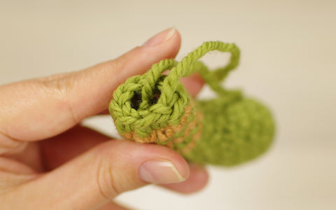 crocheting striped animals