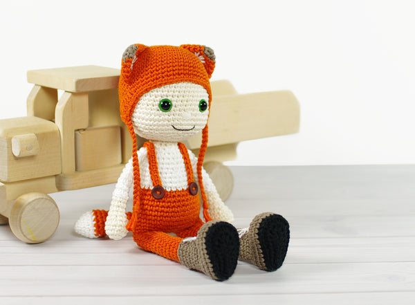 Amigurumi Doll Fox Lovey Crochet Pattern Crochet Toy | 441x600