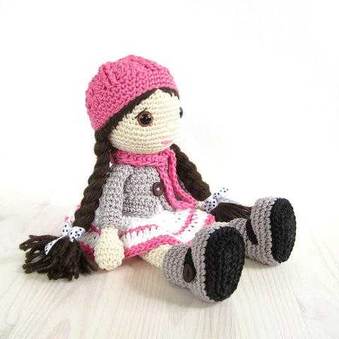 PATTERN: Doll in a dress, jacket and boots