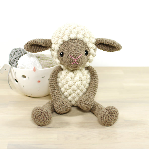 CROCHET KIT: Sheep, beige