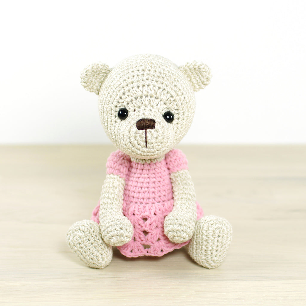 PATTERN: Teddy bear in a dress – Kristi Tullus