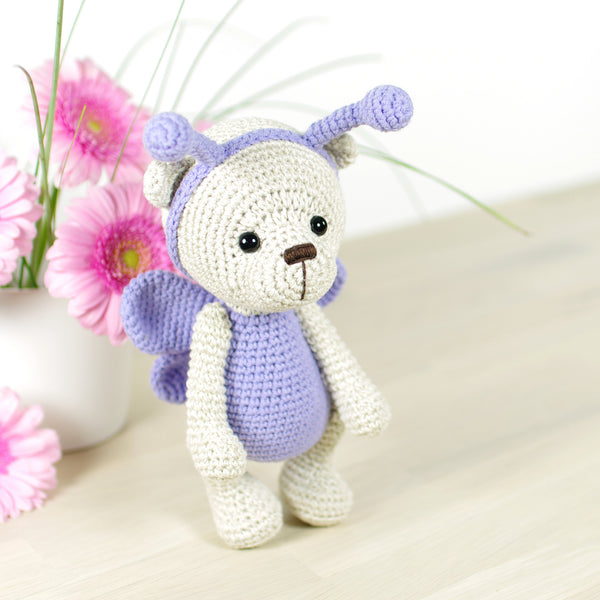 PATTERN: Teddy bear in a butterfly costume