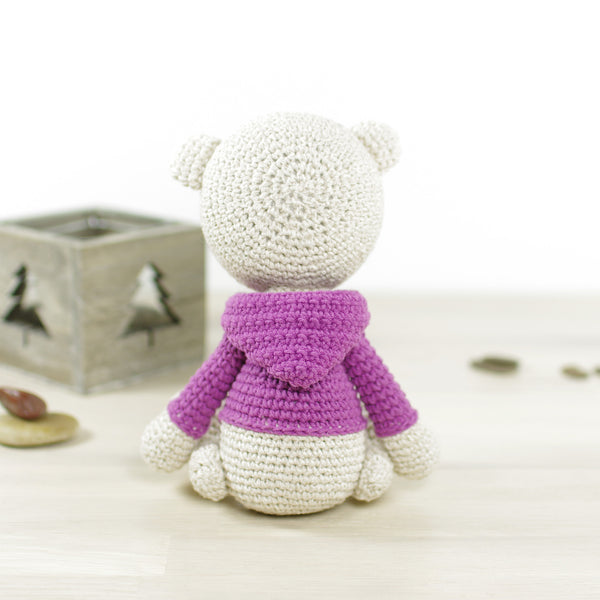 PATTERN: Teddy bear in a hoodie