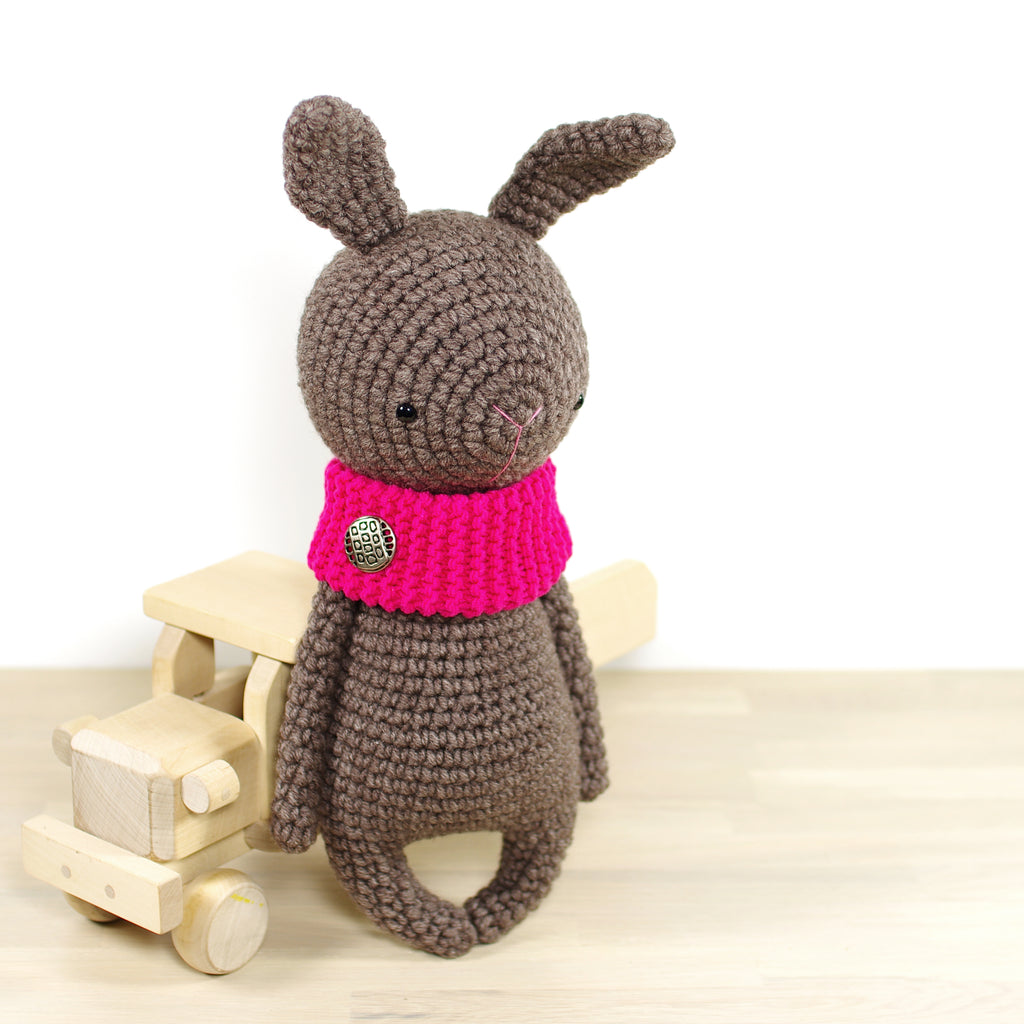 Bunny with a Pink Cowl