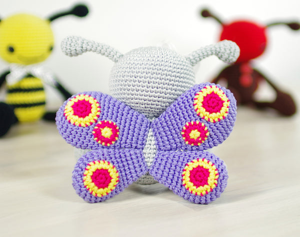 PATTERN: Ladybug, bee and butterfly