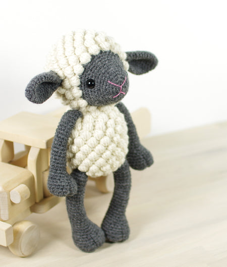 CROCHET KIT: Sheep, gray