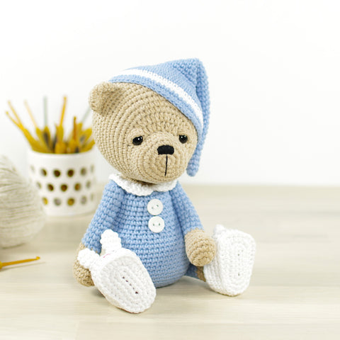 PATTERN: Sleepy teddy in pajamas
