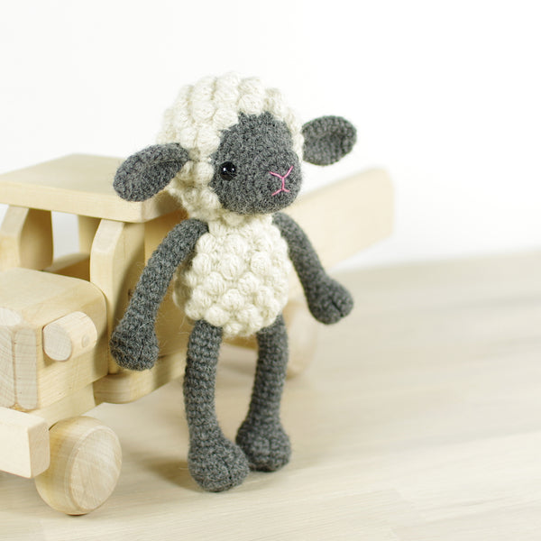 CROCHET KIT: Small sheep, gray