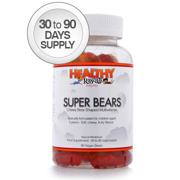 Healthy Rascals Super Bears – chewable Multi Vitamins (90 jelly bears)