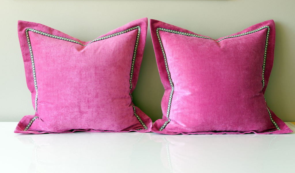 Pink Velvet Throw Pillows