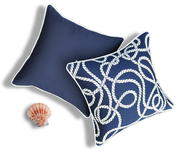 Navy Sunbrella Pillows