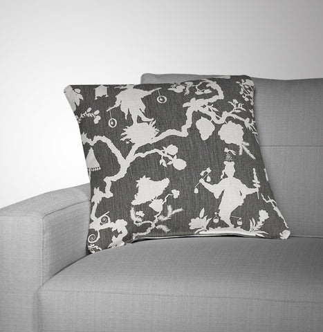 Chinoiserie Pillow Cover Made With Schumacher Shantung Fabric