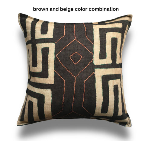 African Bantu Inspired Throw Pillow Cover