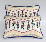 African Motif Pillows - Set of Two Pillows