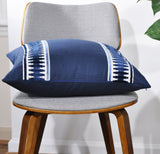 navy throw pillows