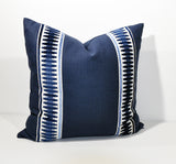 pillows with tape trim in cut velvet