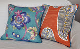 Persimmon Pillow Cover -Robert Allen -Pillow with Piping -Burnt Orange Pillow Cover -Orange Throw Pillow - Burnt Orange - Paisley Print