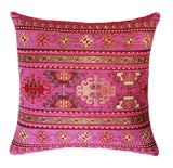 KILIM PILLOW Cover - Turkish Pillow -Tribal Pillow - Aztec Pillow -Ethnic Pillow -Pink and Gold Pillow Cover -Chenille Pillow - Pink Pillows