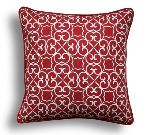 Red Throw Pillow Cover - Designer Pillow Cover - Modern Decor - Designer Throw Pillow Cover - Decorative Pillow Cover- Zippered Pillow Cover