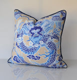Set of Two Thibaut Imperial Dragon Pillow Covers