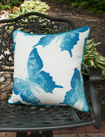 ... OUTDOOR PILLOW COVERS   Butterfly Pillow Cover   Turquoise Pillow Cover    Blue Pillow Cover ...