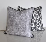 Set of Two Timbuktu Pillow Covers in Gray