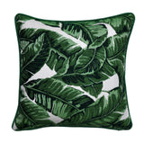 Sunbrella Pillow Cover -Green Pillow Cover - Tropical Pillow - Leave Pillow - Palm Pillow -Pillow With Piping- Outdoor Pillow Cover