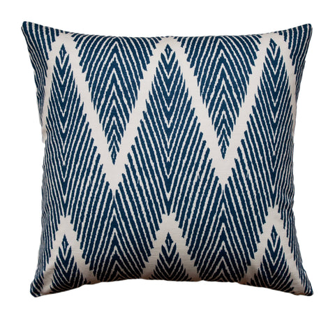 Chevron Pillow - Navy Pillow - Lacefield Bali