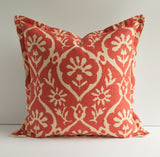 Schumacher Greeff Flange Coral Pillow - Front