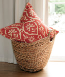 Schumacher Greeff Flange Coral Pillow