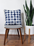 Indigo Blue Pillow Cover -Sunbrella® Fabric - Midori Fabric -Blue and White Pillow Cover -Indoor and Outdoor Throw Pillow Cover -Navy Pillow