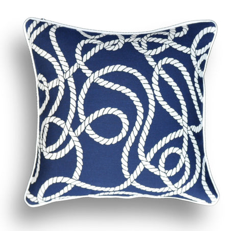 Nautical Pillow Cover Made With Sunbrella® Fabric