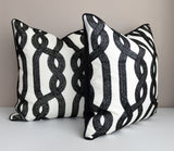Ornate Loop Designer Pillow Cover - 20X20