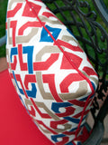 Rieser Pillow Cover - Outdoor Pillow Cover in Red, Blue and White