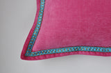 Flange Pillow Cover - Solid Throw Pillow Cover - Pink Pillow Covers - Orange Pillow Covers - Teal Pillow Covers - Velvet Pillow Cover
