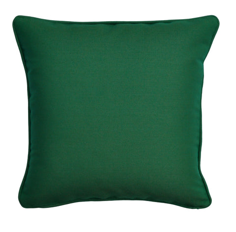 Solid Green Pillow Cover -Sunbrella® Fabric -Green Throw Pillow Cover - Pillow With Piping- Welted Pillow Cover - Outdoor Pillow Cover