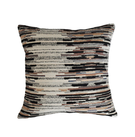 Striped Pillow Cover -Robert Allen Fabric -Tribal Pillow -Brown Pillow Cover-Beige Pillow Cover -Geometric Pattern - Jacquard Pillow Cover