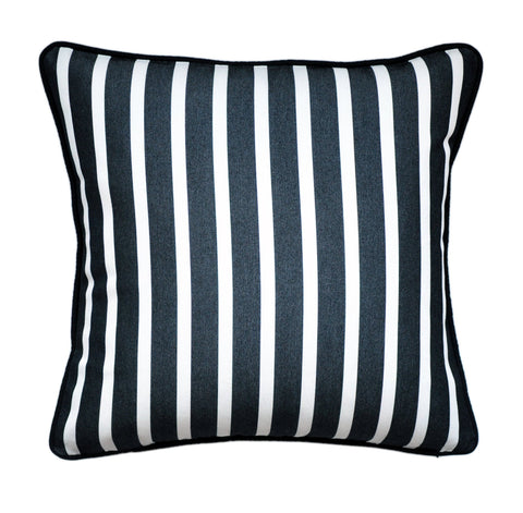 Sunbrella Pillow Cover -Black and White Pillow Cover -Sunbrella® Fabric Pillow Cover -Striped Outdoor Pillow - Outdoor Throw Pillow