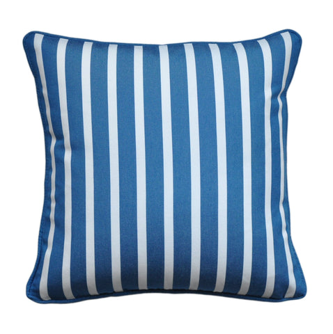 Sunbrella Pillow Cover -Blue and White Pillow Cover -Sunbrella® Fabric Pillow Cover -Striped Outdoor Pillow - Outdoor Throw Pillo