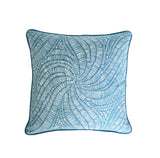 Turquoise Pillow Cover -Robert Allen -Pillow with Piping - Teal Pillow Cover -Peacock Throw Pillow - Welted Pillow Cover - Swirls Print