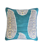 Peacock Pillow Cover -Robert Allen -Pillow with Piping -Teal Pillow Cover -Peacock Throw Pillow - Welted Pillow Cover - Paisley Print